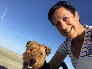Anja en haar Welsh Terrier Cooper